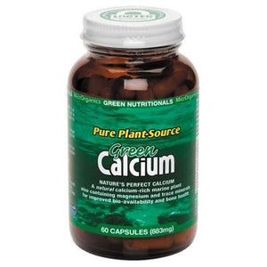 GREEN NUTRITIONALS Organic Green Calcium (Pure Plant Source) Capsules (883mg) - 60 caps