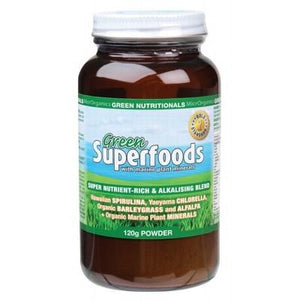 GREEN NUTRITIONALS Organic Green Superfoods Powder 120g