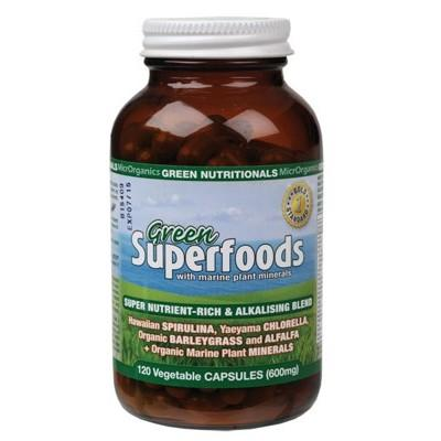 GREEN NUTRITIONALS Organic Green Superfoods 120 VegeCaps (600mg)