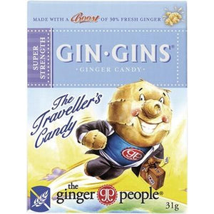 THE GINGER PEOPLE Gin Gins Ginger Candy Super Strength 31g