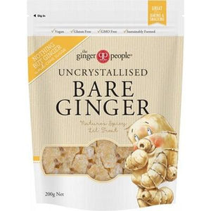 THE GINGER PEOPLE Uncrystallised Bare Ginger 200g