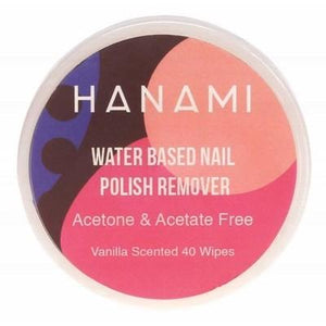 HANAMI Nail Polish Remover Wipes Water Based - Vanilla Scented 40