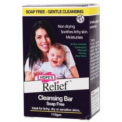 HOPE'S RELIEF Cleansing Bar - Soap Free Itchy, Dry or Sensitive Skin 110g