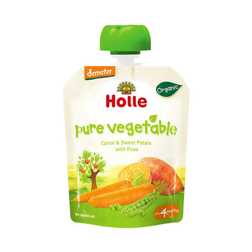 Holle Organic Pouch Carrot & Sweet Potato with Peas