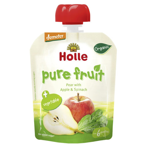 Holle Organic Pouch Pear with Apple & Spinach