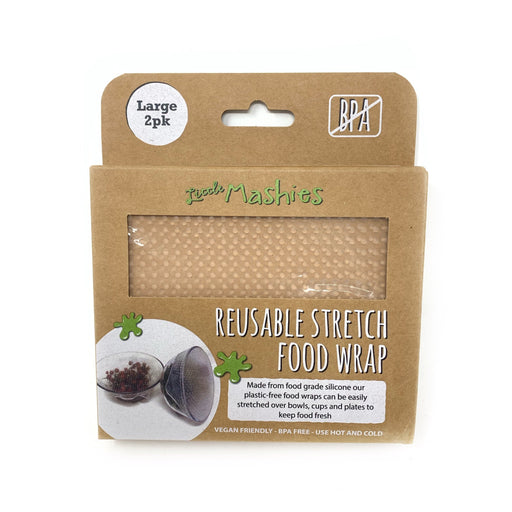 Little Mashies Reusable Stretch Silicone Food Wrap Pack of 2