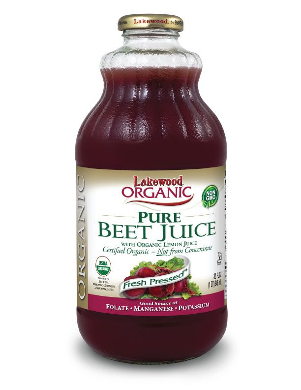 LAKEWOOD Organic Beetroot Juice Cold Pressed 946mL