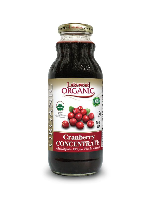 LAKEWOOD Organic Cranberry Juice Concentrate Cold Pressed 370mL