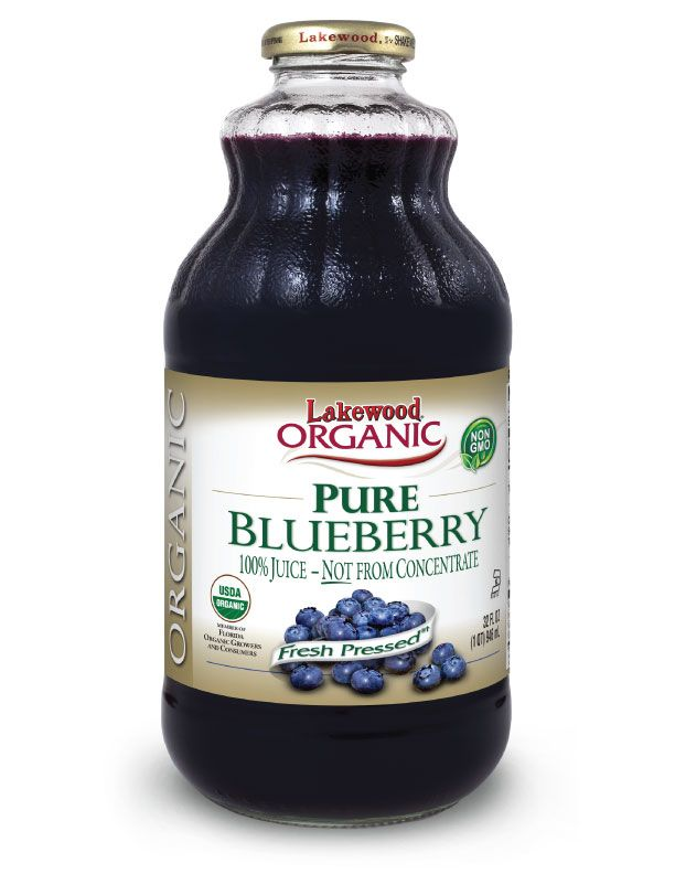 LAKEWOOD Organic Blueberry Juice Cold Pressed 946mL