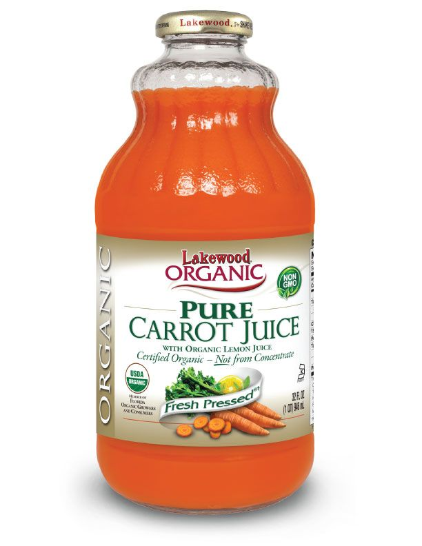 LAKEWOOD Organic Carrot Juice Cold Pressed 946mL