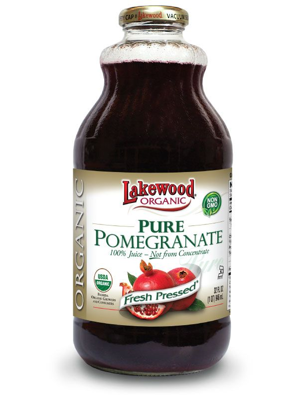 LAKEWOOD Organic Pomegranate Juice Cold Pressed 946mL