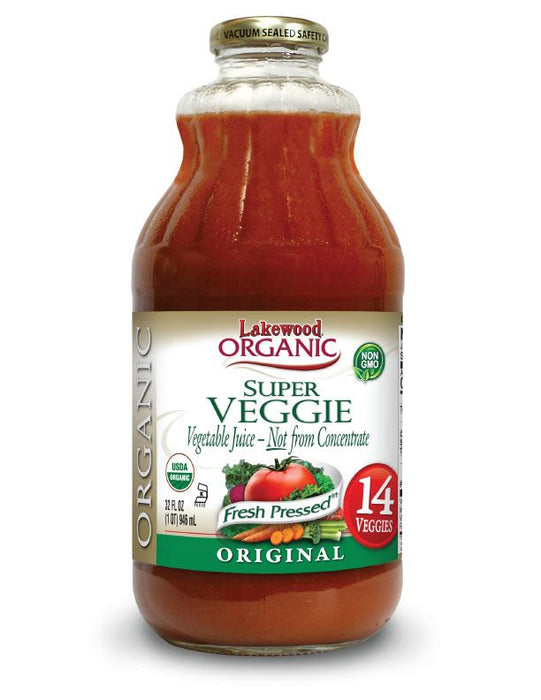 LAKEWOOD Organic Veggie Vegetable Super Juice Cold Pressed 946mL