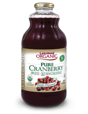 LAKEWOOD Organic Cranberry Juice Cold Pressed 946mL