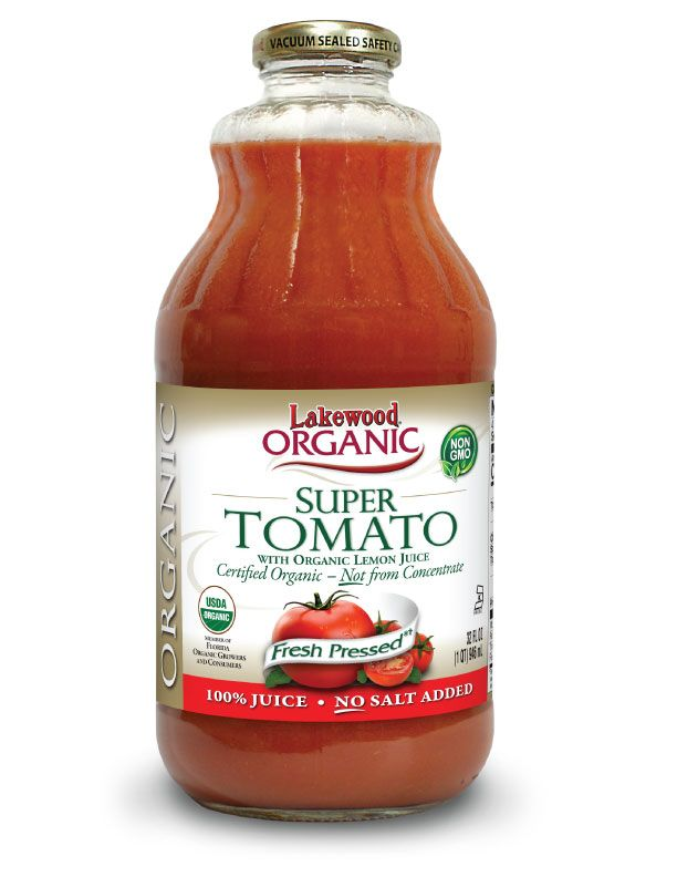 LAKEWOOD Organic Tomato Super Juice Cold Pressed 946mL