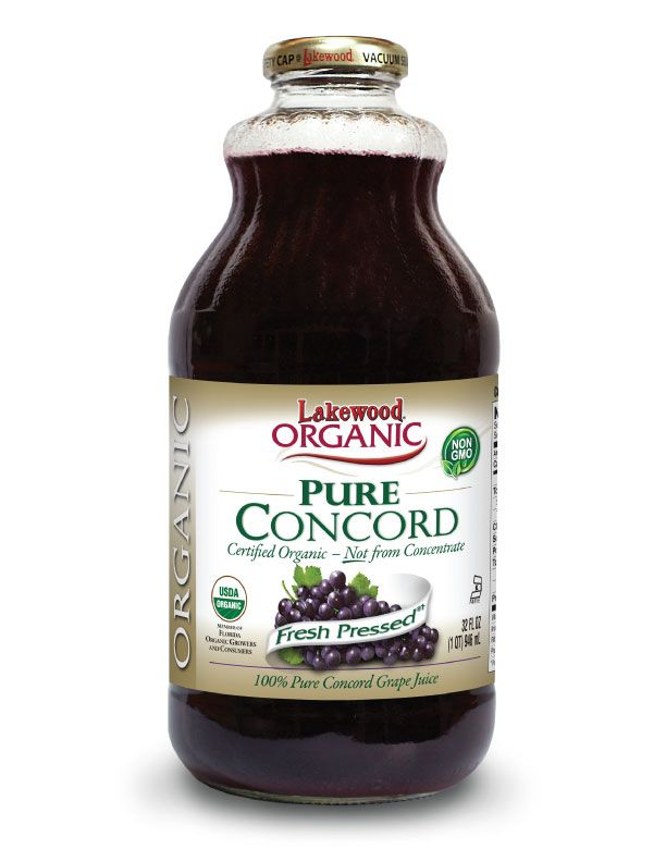 LAKEWOOD Organic Concord Grape Juice Cold Pressed 946mL