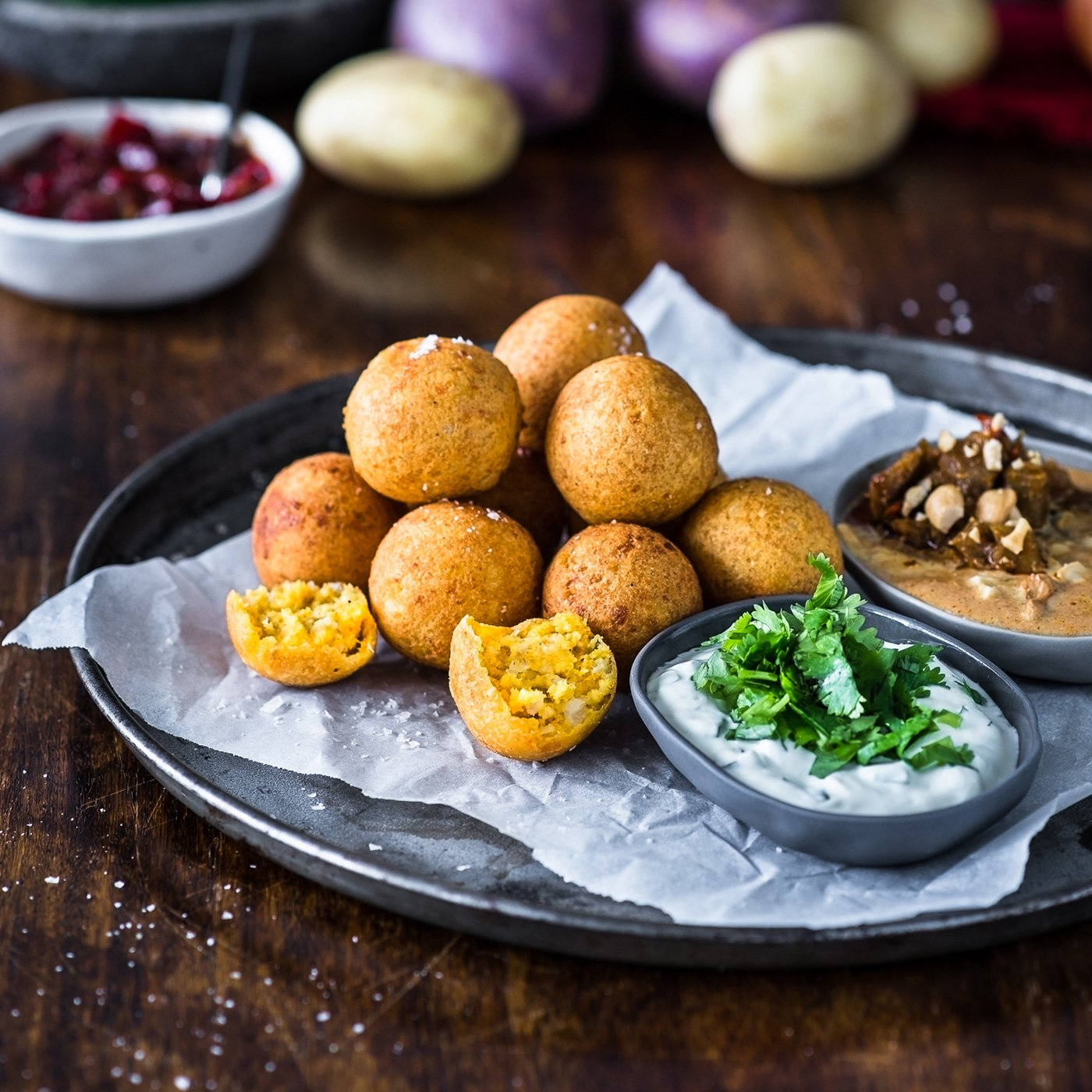 TURBAN CHOPSTICKS Little Bites Potato Ricotta Balls Lifestyle