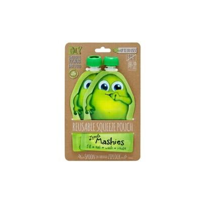 LITTLE MASHIES Reusable Squeeze Pouch Green 130ml