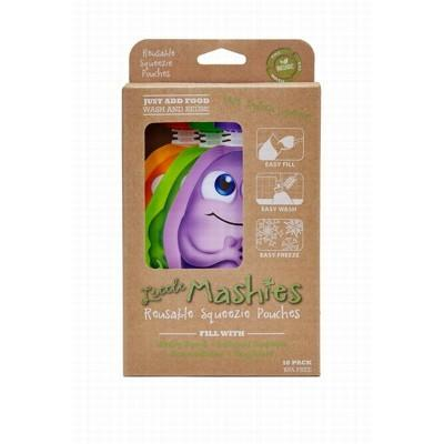 LITTLE MASHIES Reusable Squeeze Pouch Mixed Colours 130ml