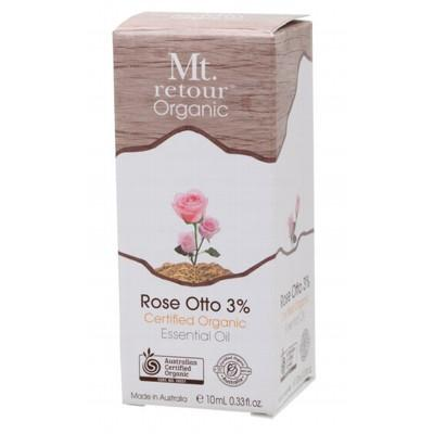 MT RETOUR Organic Rose Otto 3% (in Jojoba Oil) Essential Oil 10ml