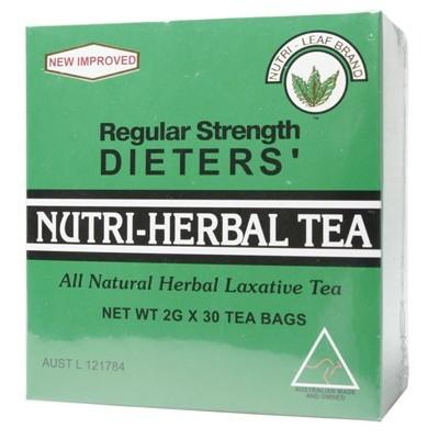 NUTRI-LEAF Herbal Tea Bags Dieter's Tea - Regular 30
