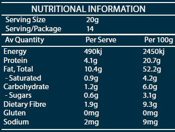 RGF High Protein Mix Nutritional Information