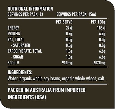 Lotus Soy Sauce Nutritional Information