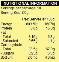 NATURE FIRST Organic Rolled Oats Creamy Nutritional Information