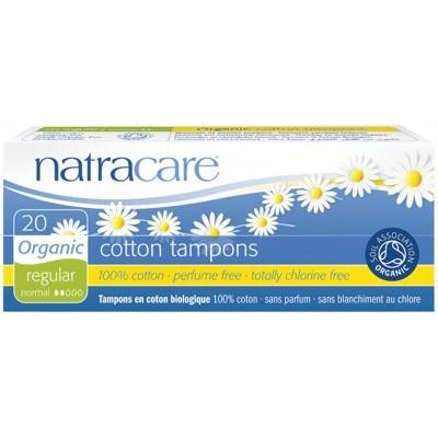 NATRACARE Organic Tampons - Regular (Non-Applicator) - 20 Tampons