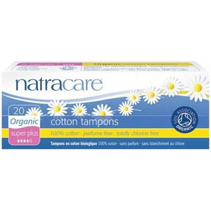 NATRACARE Organic Tampons - Super Plus (Non-Applicator) - 20 Tampons