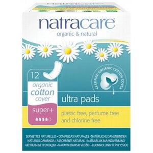 NATRACARE Organic Ultra Pads Super Plus with Wings - 12 pcs