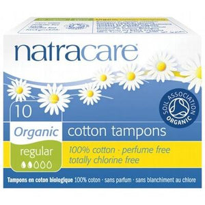 NATRACARE Organic Regular Tampons (Non-Applicator) 10 pcs