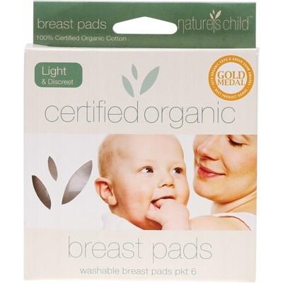 NATURE'S CHILD Cotton Breast Pads Light 6