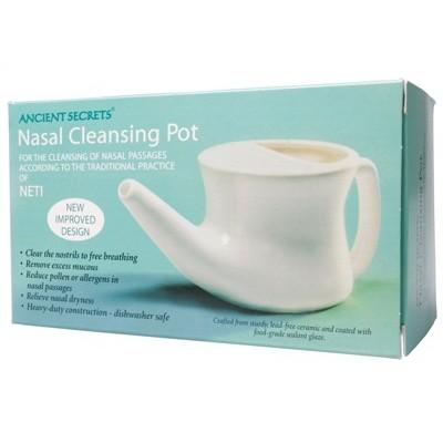 ANCIENT SECRETS Nasal Cleansing Pot Neti Pot - Ceramic