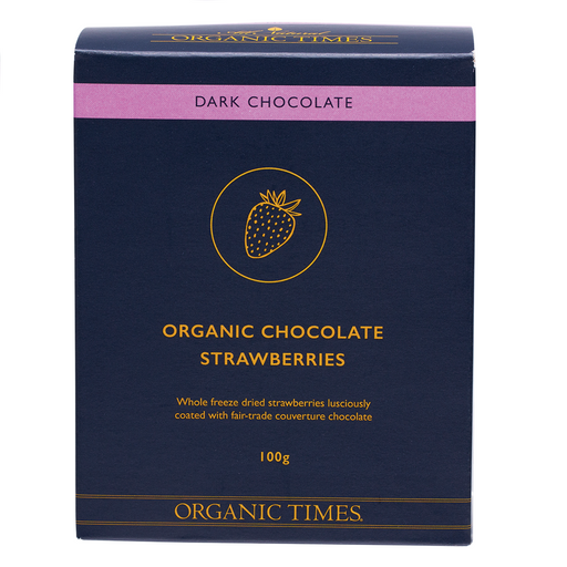 Organic Times Dark Chocolate Strawberries