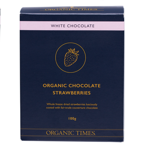 Organic Times White Chocolate Strawberries