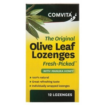COMVITA Olive Leaf Extract Lozenges With Manuka Honey 12