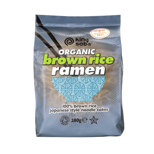 King Soba Ramen Noodle Cakes - 280g Brown Rice