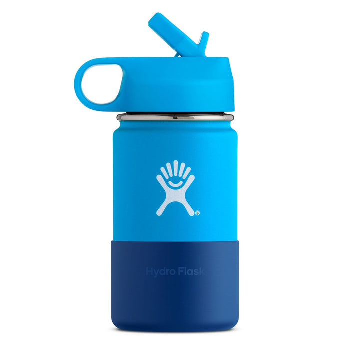 HYDRO FLASK Wide Mouth Kids Bottle - Straw Lid Double Insulated - Pacific