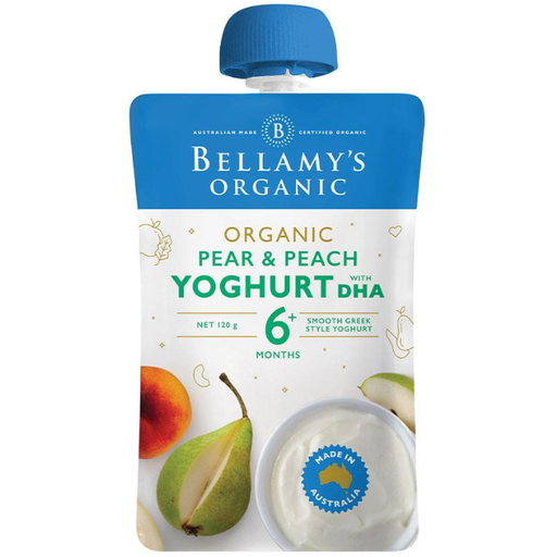 Bellamys Organic DHA Yoghurt Pear and Peach