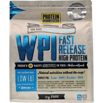 PROTEIN SUPPLIES AUST. WPI (Whey Protein Isolate) Pure 1kg