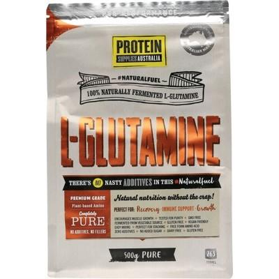 PROTEIN SUPPLIES AUST. L-Glutamine (Plant-based) Pure 500g