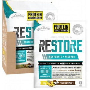 PROTEIN SUPPLIES AUST. Restore Hydration Recovery Drink Pine Coconut 10g