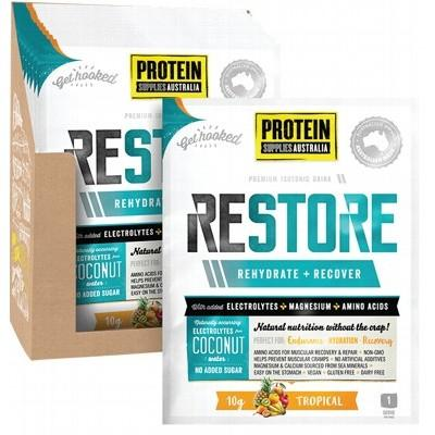 PROTEIN SUPPLIES AUST. Restore Hydration Recovery Drink Tropical 10g