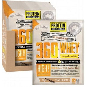 PROTEIN SUPPLIES AUST. 360Whey (WPI+WPC Combo) Vanilla Bean 30g