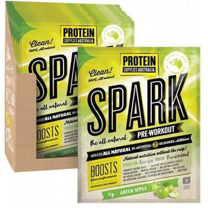 PROTEIN SUPPLIES AUST. Spark (All Natural Pre-workout) Green Apple 15g