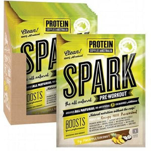 PROTEIN SUPPLIES AUST. Spark (All Natural Pre-workout) Pine Coconut 15g
