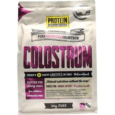 PROTEIN SUPPLIES AUST. Colostrum (Grass Fed) Pure - 20% Immunoglobulin (IgG) 500g