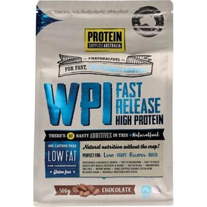 PROTEIN SUPPLIES AUST. WPI (Whey Protein Isolate) Chocolate 500g