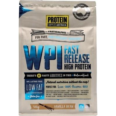 PROTEIN SUPPLIES AUST. WPI (Whey Protein Isolate) Vanilla Bean 500g