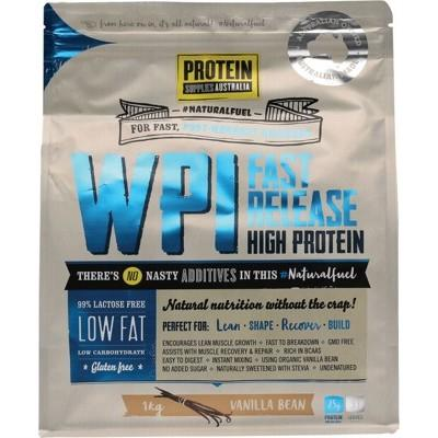 PROTEIN SUPPLIES AUST. WPI (Whey Protein Isolate) Vanilla Bean 1kg